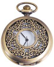 Taschenuhr mit Deckel Quarz Analog Uhr Sprungdeckel Halbsavonnette Kette - antik