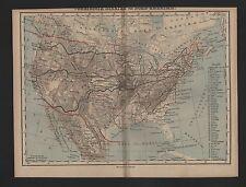 Landkarte map 1885: VEREINIGTE STAATEN VON NORD-AMERIKA. USA