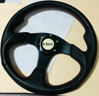 RACING SPEC LEATHER STEERING WHEEL UNIVERSAL (350MM) FOR S13 S15 R32 R33 WRX EVO