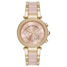 Michael Kors Uhr MK6326 PARKER Damen Chronograph Edelstahl Gold Rosa Armbanduhr