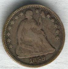 U.S.A. 1/2 Dime Seated Liberty 1858  @ Bella pieza @