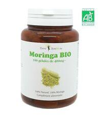 Moringa BIO - 100 gélules de 400 mg Biologique - Calcium - Fer - Vitamine