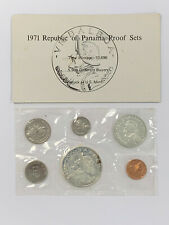 1971 Republic of Panama Proof Set with OGP and COA - Only 10,696 Minted *