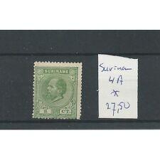 Suriname 4A  14x14 kl.gt.  LUXE  MH/ongebr CV 27,5 €