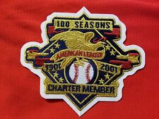 9601 2001 AMERICAN LEAGUE 100 Seasons Charter Member Patch For Jersey 4.0 x 4.5