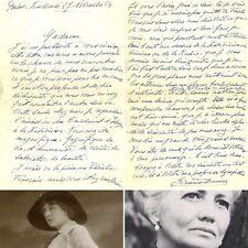🌓 LAS Germaine DERMOZ félicite Louise CONTE Cardinal d'Espagne Montherlant 1964