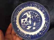 VINTAGE RICH BLUE SIDE PLATE OLD WILLOW ALFRED MEAKIN 7""