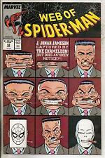 Marvel Comics Web Of Spiderman #52 July 1989 VF+