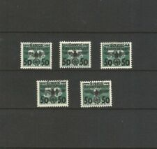 GERMANY 1940 POLAND OCCUPATION GENERAL GOVERNMENT M/MINT STAMPS SG 386a-386e