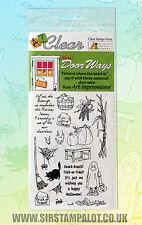 Art Impressions Clear Rubber Stamp set Halloween October November CS3376
