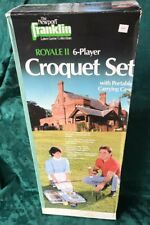 NEW Royal II Vintage Franklin 6 Player Solid Croquet Set Really Nice GREAT GIFT!