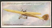Vickers Monoplane For Military Trials  Avaiton History 100+ Y/O Trade Ad Card