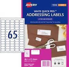 Avery L7651 White Laser Label  38.1 x 21.2mm - 65/Page Pk-25 - 959012