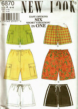 Misses NEW LOOK PATTERN 6870 SHORTS 6 EASY OPTIONS SIZE 6-16 UNCUT