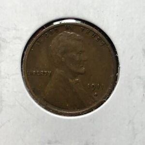 1911-S 1c LINCOLN WHEAT CENT *NICE XF SEMI KEY DATE WOOD GRAIN COIN* LOT#AI92