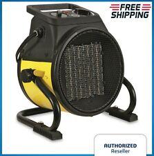 Electric Forced Air Heater Pivot Base 5120 BTU Garage Home Portable Fan Ceramic