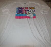 Super Mario mens ahort sleeve cotton t shirt white L Large Made in the 80'S NWOT