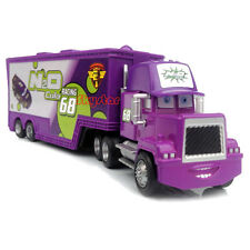 Disney Pixar Cars NO.68 N2O Cola Team Mack Racer's Hauler Truck Trailer Toy Car