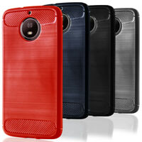 Phone Cover For Motorola Moto G5s/G5s Plus Mobile Thin Bumper Carbon Fibre Case