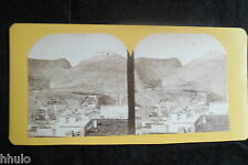 STB092 Campement à la Lunette St louis photo vintage STEREO amateur