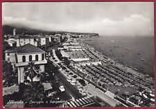 SAVONA ALBISSOLA 35 SPIAGGIA BAGNI Cartolina FOTOGRAFICA viaggiata 1963