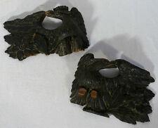 Paire aigles bois sculpté XIXème ancien