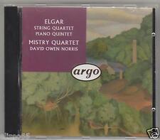 ELGAR STRING QUARTET PIANO QUINTET MISTRY QUARTET  CD
