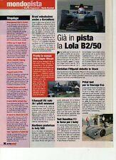 Z98 Ritaglio Clipping 2001 Formula 3000 già in pista la Lola B2/50