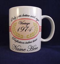 Personalised Pink Birthday - Coffee Mug - 30th 40th 50th 60th 70th 80th 90th