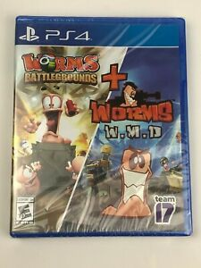 New & Sealed Worms Battlegrounds + Worms W.M.D. Combo Pack for PS4 PlayStation 4