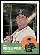 2012 Topps Heritage High (Hi) Number #H651 Will Middlebrooks RC - Boston Red Sox