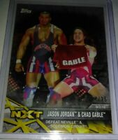 WWE Jason Jordan & Chad Gable #1 2017 Topps NXT Silver Parallel Card SN 24 of 25
