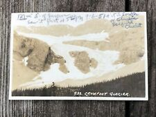 Old RPPC Postcard CROWFOOT GLACIER Along the line of Canadian Pacific RR Alberta
