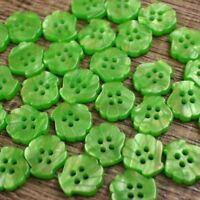 Pearl Shell Effect Button Lot 20 16L 10mm Green Project Art Crafts Card Sewing