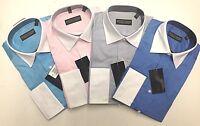 DONALD J. TRUMP  SIGNATURE COLLECTION MEN'S DRESS SHIRT NWT 100% COTTON