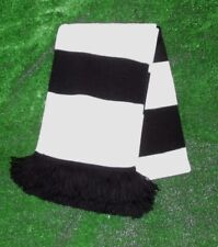 Derby County Colours Retro Bar Scarf - White & Black - Made in UK