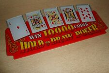 More details for large vintage poker perspex card unframed display piece ideal for any mancave