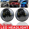 """2x 5.75"""" Motorcycle LED Headlight Projector Head Lamp For Car Truck Jeep Harley"""
