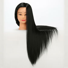 "28"" Salon Practice Mannequin Model Hairdressing Training Head Synthetic Hair"