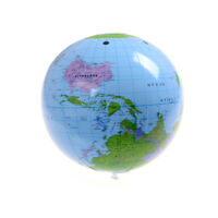 "Inflatable Blow Up World Globe 16"" inch Earth Atlas Ball Map Geography Toy"