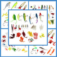 Fishing Lures Set Mixed Minnow Piler Spoon Hooks Fish Lure Kit In Box Isca  M2E2