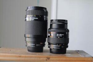 Nikon AF 35-80mm and 70-210mm  FX for Nikon D70,80,90,200,300,7000,600,800