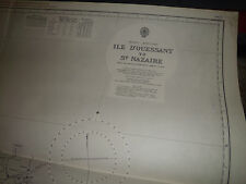Vintage Admiralty Chart LD1- 20 FRANCE - ILE D'OUESSANT to ST. NAZAIRE 1957