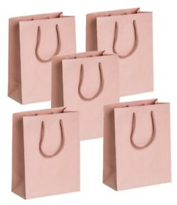 5 ROSE GOLD BLUSH - BOUTIQUE PARTY GIFT BAGS - MATT MEDIUM BIRTHDAY PRESENT BAG