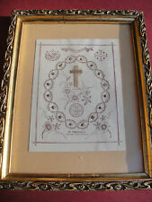 Vatican large framed 1800s reliquary 16 relics Passion Jesus Christ Holy Family