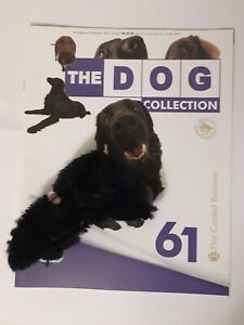 THE DOG COLLECTION 61 Flat Coated Retriever (open) Magazine & Toy good condition