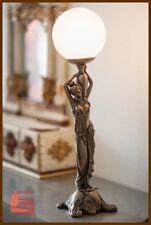 Jugendstil Lampe Mädchen Skulptur Tischleuchte Leselampe 58 cm hoch  -02-