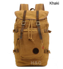 Vintage Retro Travel Canvas Rucksack Satchel Laptop Hiking School Bag Backpack