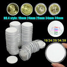 50Pcs Plastic Capsules Coin Holders Case Storage Adjustable for 19 24 29 34 39mm