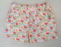 NEXT Girls Pink Blue Multi Floral Jersey Cotton Summer Shorts 2-3 years